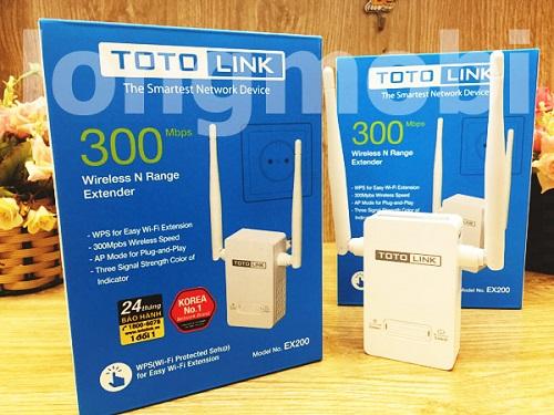Thiết bị mở rộng vùng phủ sóng wifi Toto Link EX200