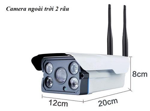 Camera Wifi YOOSEE ngoài trời IP HD LED mới nhất 2017 loại 2 ăng ten (hộp chữ nhật trắng)