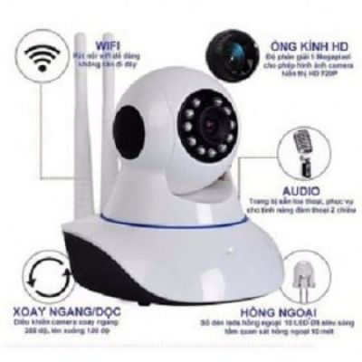 Camera IP wifi dây thông minh Yoosee IPC A8 HD 720P -Ăng ten 2 râu